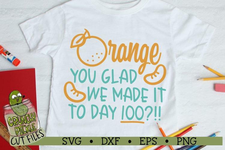 100th Day of School - Orange SVG Cut File