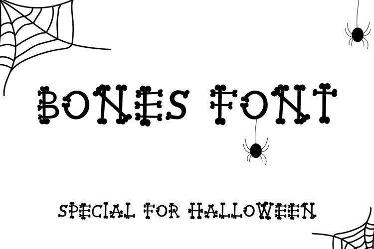 BONES HALLOWEEN FONT example image 1