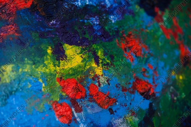 Abstract colorful art background made of oil paints example image 1