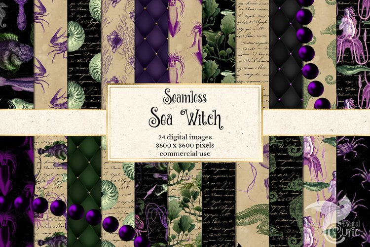 Sea Witch Digital Paper example image 1