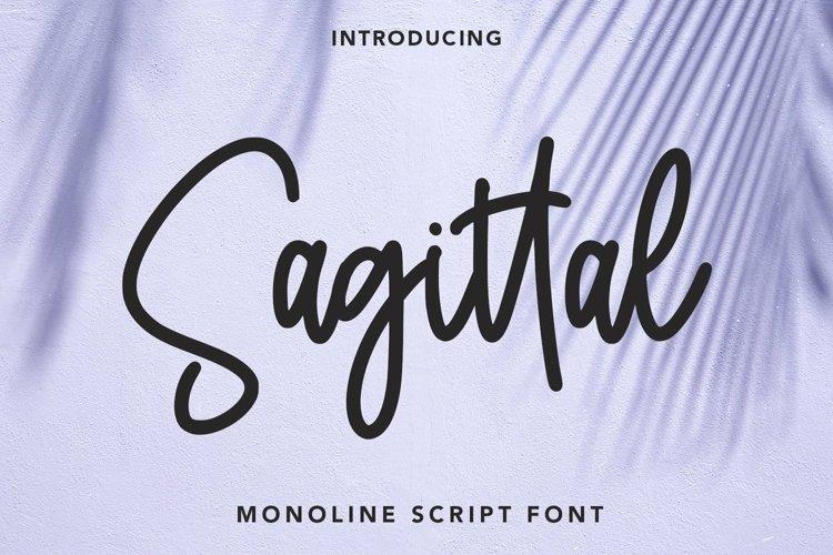 Web Font Sagittal - Monoline Script Font example image 1