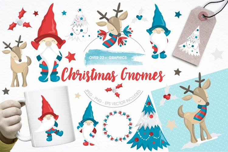 Christmas Gnomes graphics and illustrations