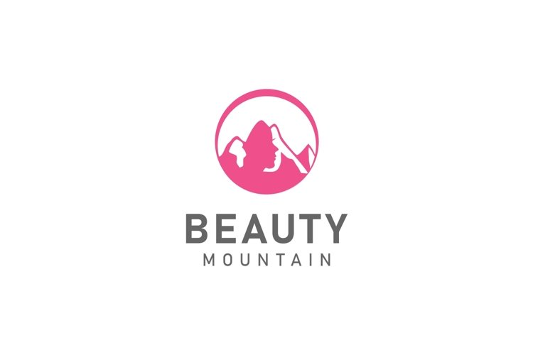 Mountain with face beauty logo example image 1