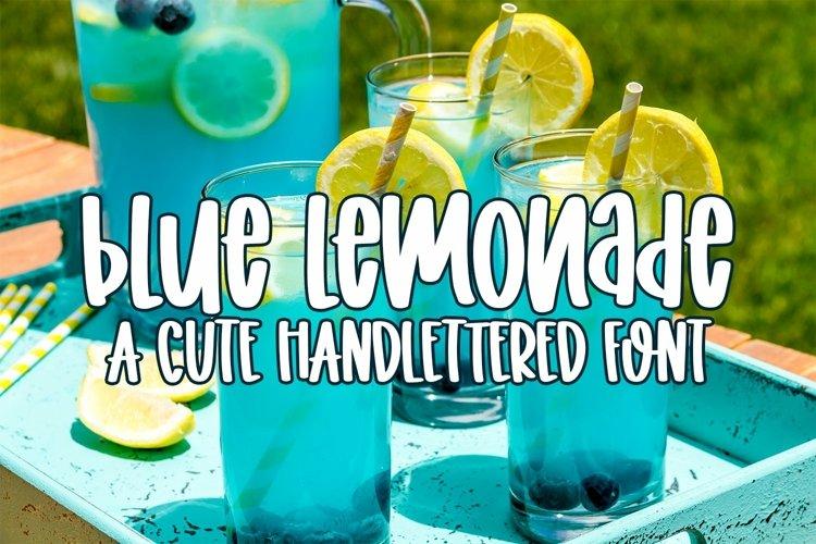 Web Font Blue Lemonade - A Cute Hand-lettered Font example image 1