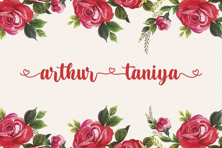 Arthur Taniya - Lovely Calligraphy Font example image 1