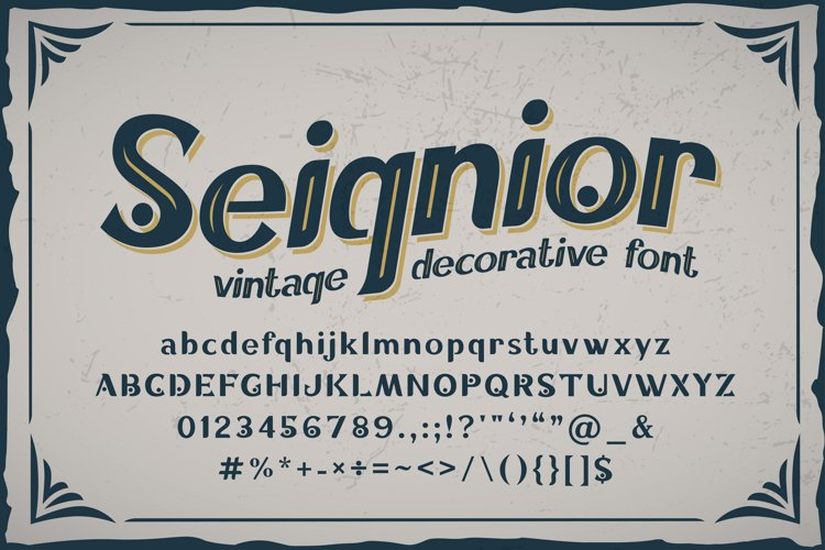 Seignior - vintage font example image 1