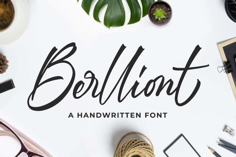 Berlliont a Handwitting Font example image 1