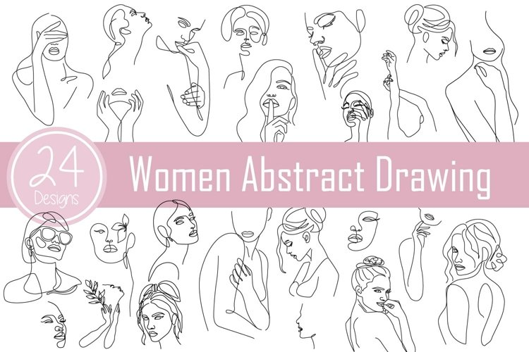 Women Abstract Drawing