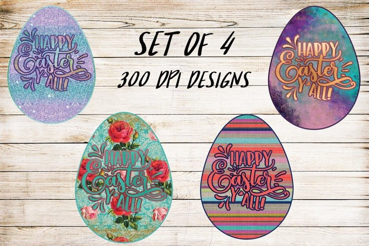 Easter Y'all- Set of 4 Ready to Print Designs example image 1