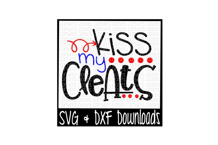Baseball SVG * Kiss My Cleats Cut File example image 1