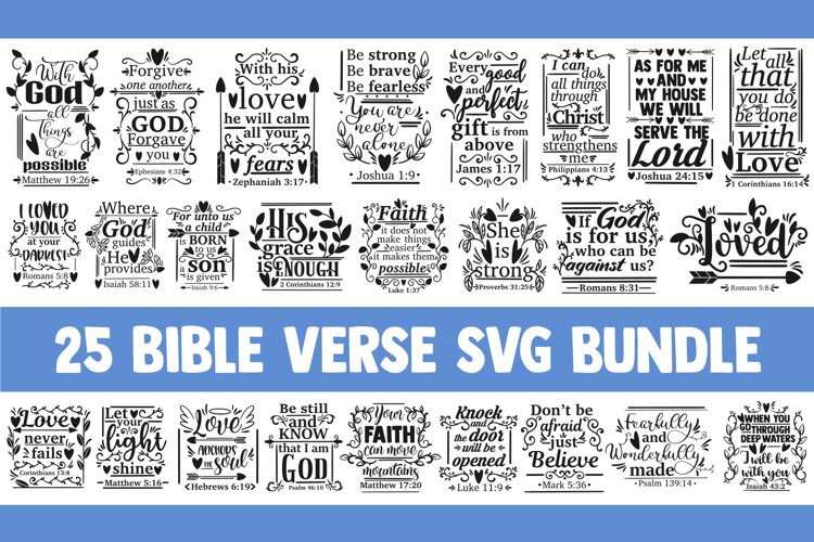 Bible verse SVG bundle, christian svg, blessed svg religious example image 1