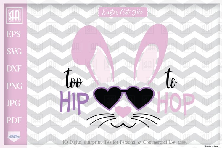 Easter Bunny girl Svg, Cool bunny girl SVG, Happy Easter Svg example image 1