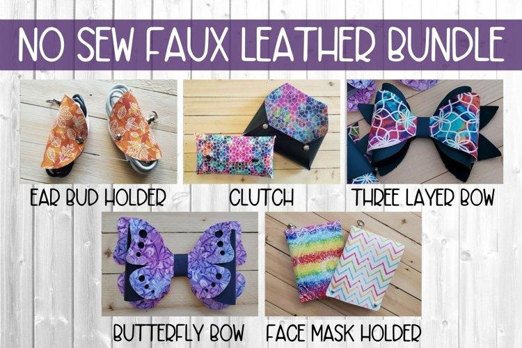 No Sew Faux Leather Leatherette Bundle SVG DXF PNG