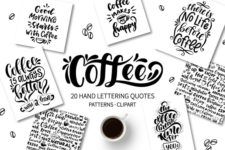 Coffee lettering set example image 1