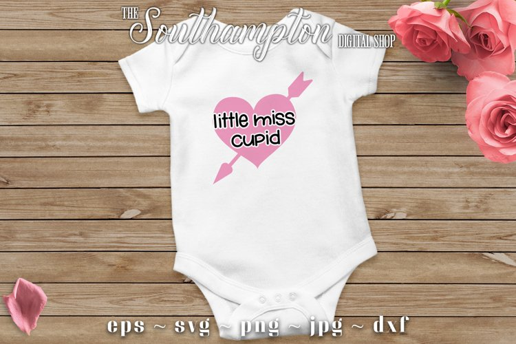 Little Miss Cupid SVG Cut Files example image 1