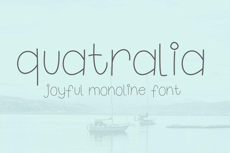 Quatralia font example image 1