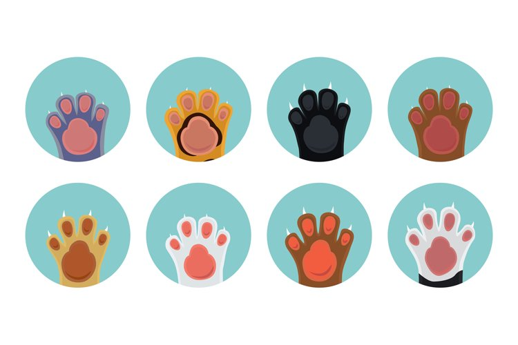 Cat paw icons example image 1