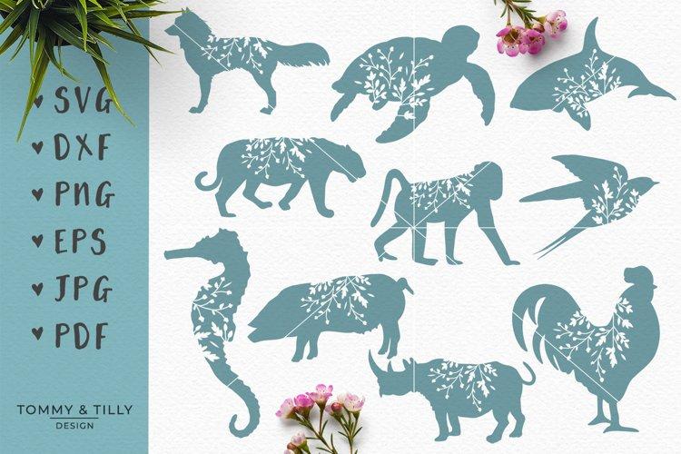 Animal Silhouettes Mega Bundle - SVG DXF PNG EPS JPG PDF Cut - Free Design of The Week Design1