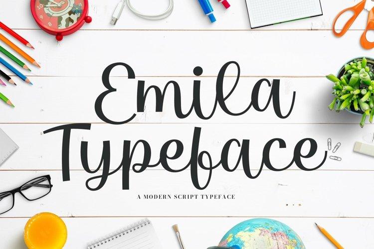 Web Font Emila example image 1