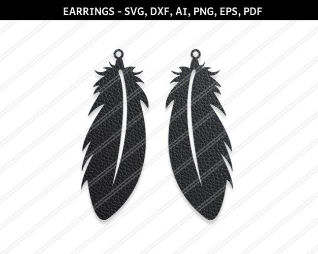 Feather earrings svg,silhouette,Hippie earring,cricut files