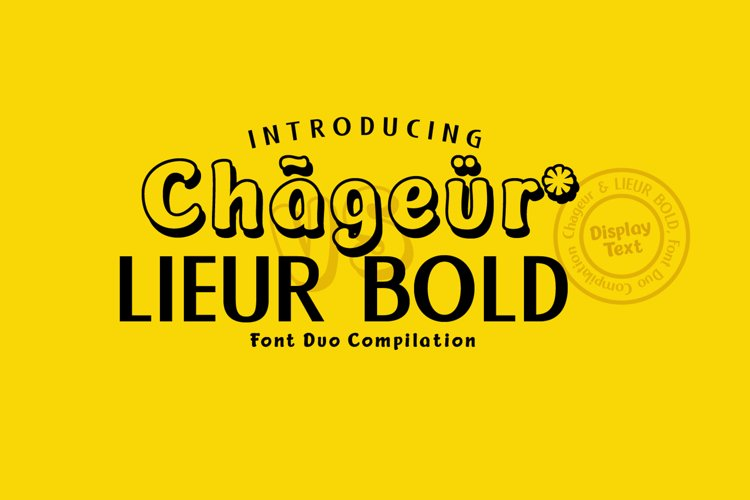 Chageur-LIEUR Bold font Duo example image 1