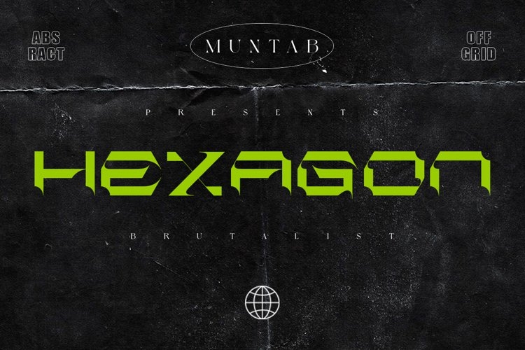 Hexagon | Brutalism Font Style example image 1