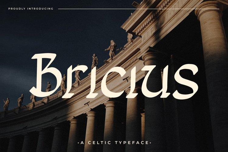 Bricius - Display Celtic Typeface example image 1