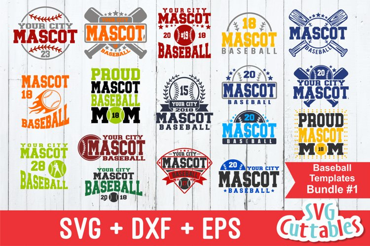 Baseball SVG Bundle #1| Template SVG Cut Files example image 1