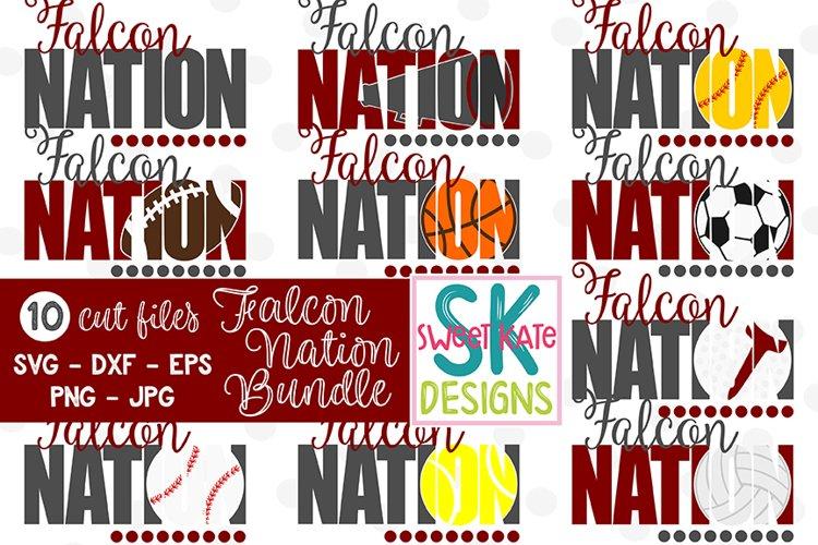 Falcon Nation Bundle - 10 - SVG DXF EPS PNG JPG example image 1