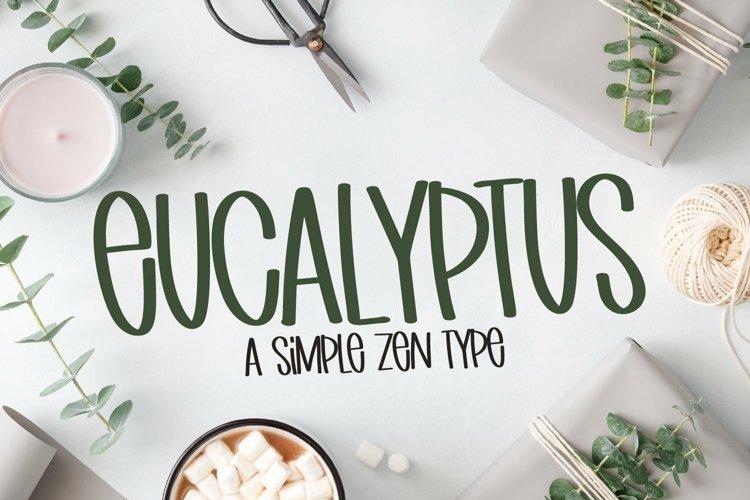 Web Font Eucalyptus - A Simple Zen Type example image 1