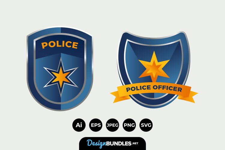 Police Badge Clipart example image 1