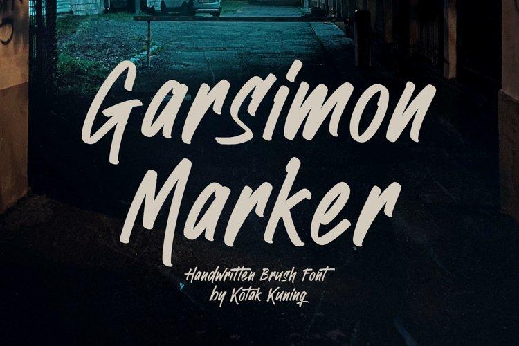 Handwritten Brush Font - Garsimon Marker example image 1