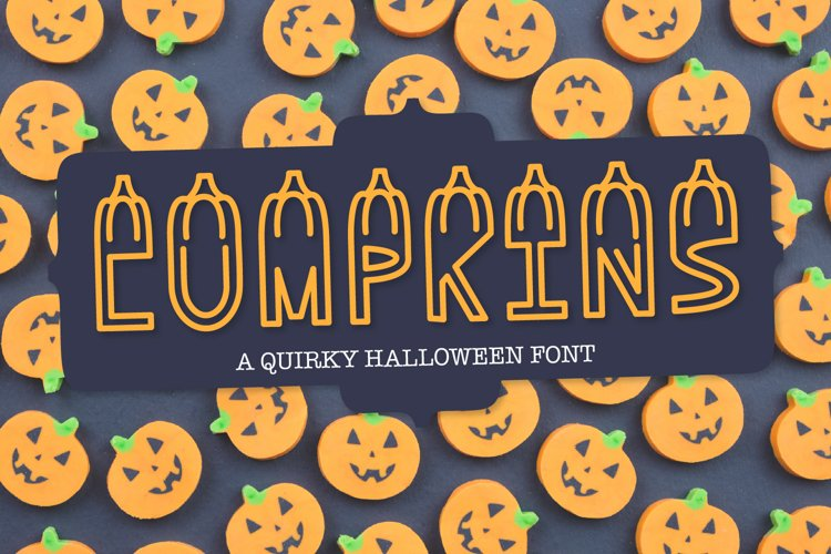 LUMPKINS - A Silly Word Art Halloween Font example image 1