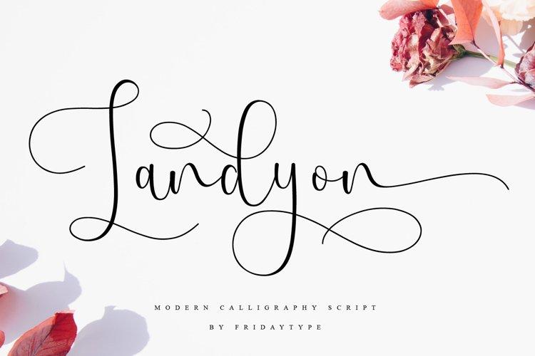 Landyon Script example image 1
