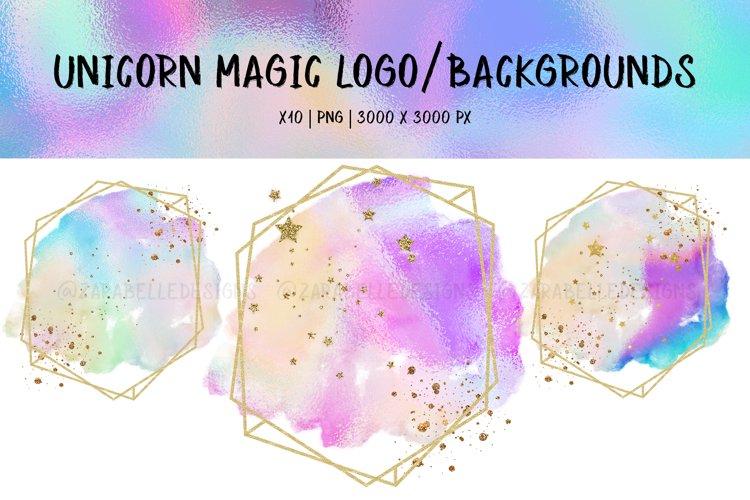 Unicorn Magic   Pastel Logo/Backgrounds