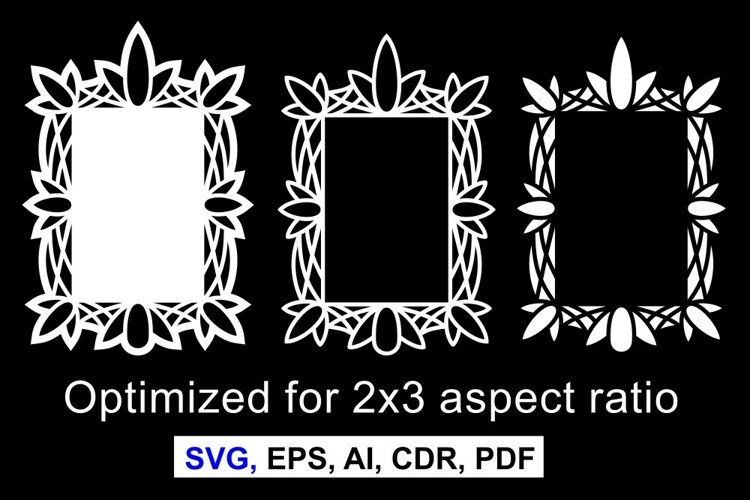 Patterned frames for various purposes example image 1