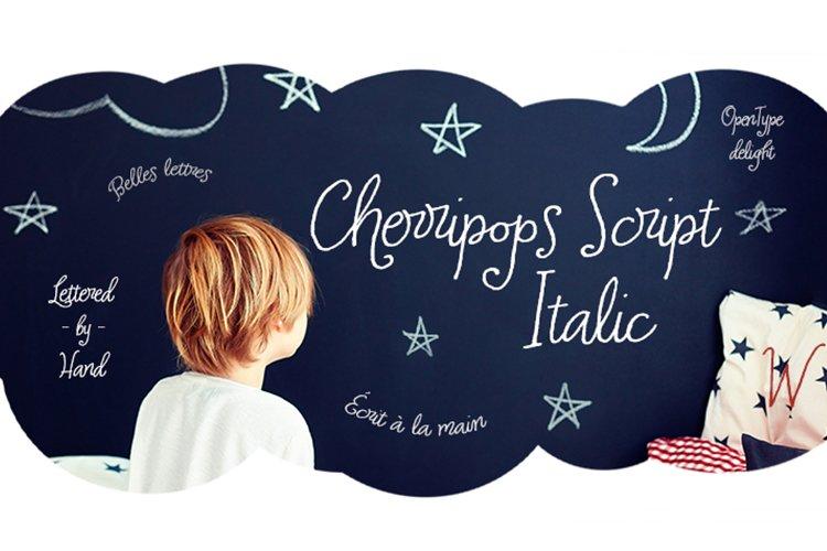 Cherripops Script Italic example image 1