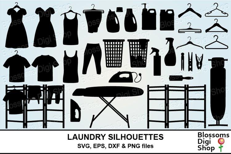 Laundry Silhouette Bundle SVG cut files example image 1