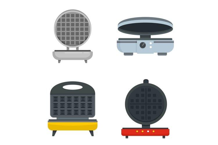 Waffle-iron icon set, flat style example image 1