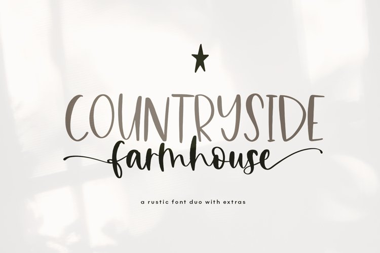 Countryside Farmhouse - A Font Duo with Doodles example image 1