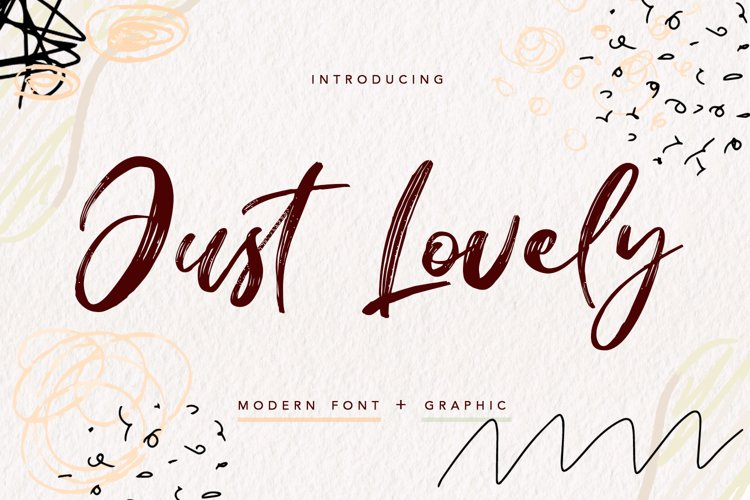 Just Lovely - modern font example image 1