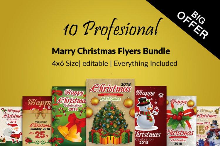 10 Christmas Celebration Flyers Bundle example image 1