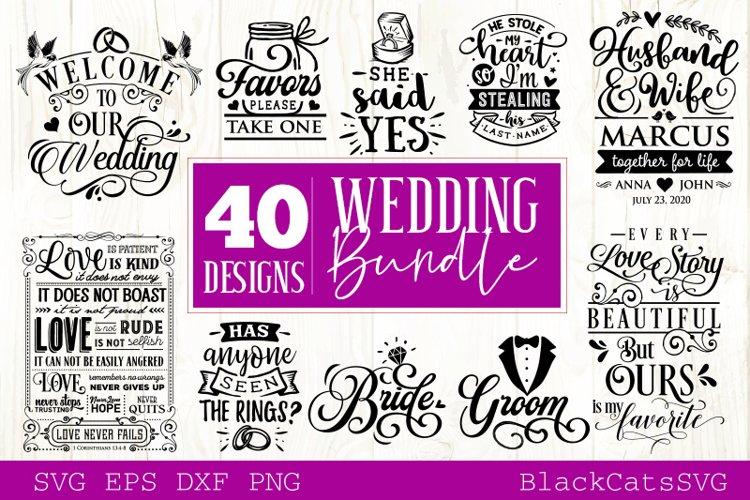 Wedding SVG bundle 40 designs vol 2