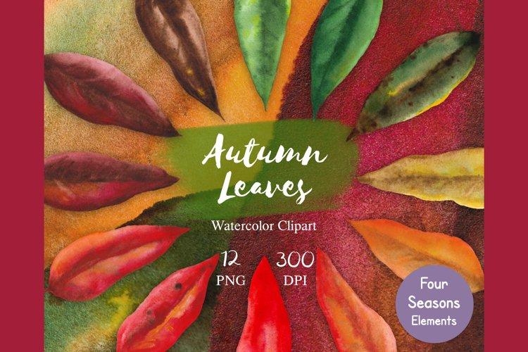 Watercolor Autumn Leaves Clipart, Leaf invitation clipart