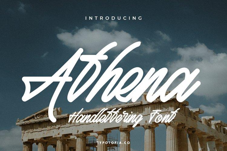 Athena Script Font example image 1