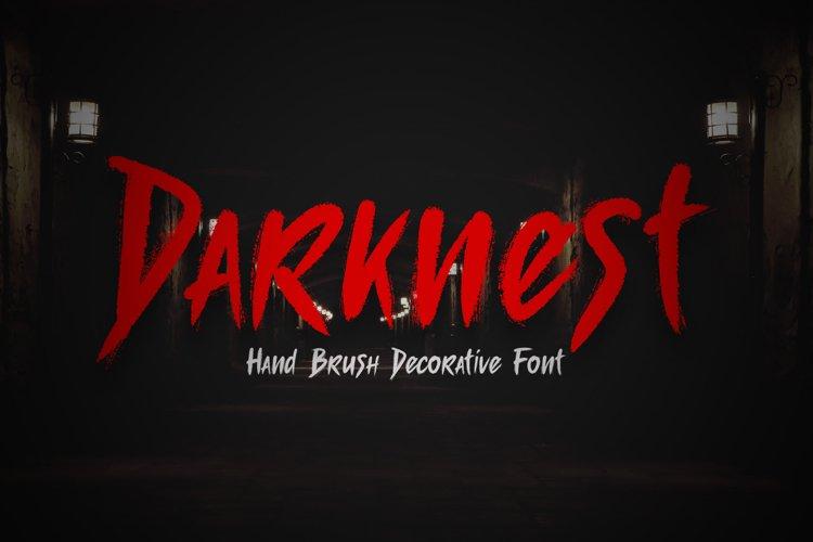 Darknest Brush Font