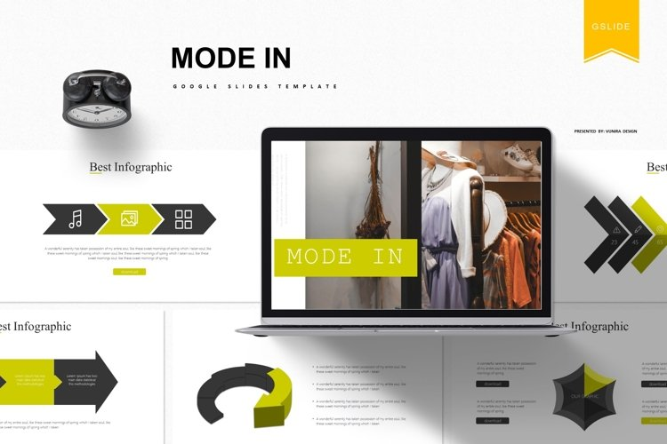 Mode In   Powerpoint, Keynote, GoogleSlides Template example image 1
