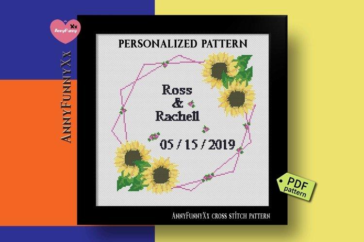 Custom wedding cross stitch pattern PDF, Alphabet Xstitch
