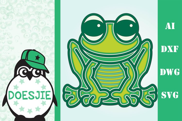 3D mandala Frog kids crafting example image 1