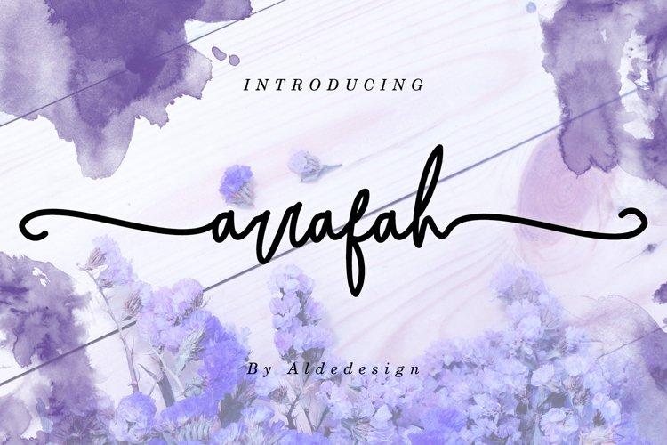 Arrafah // Fashionable Handwritten Font - WEB FONT